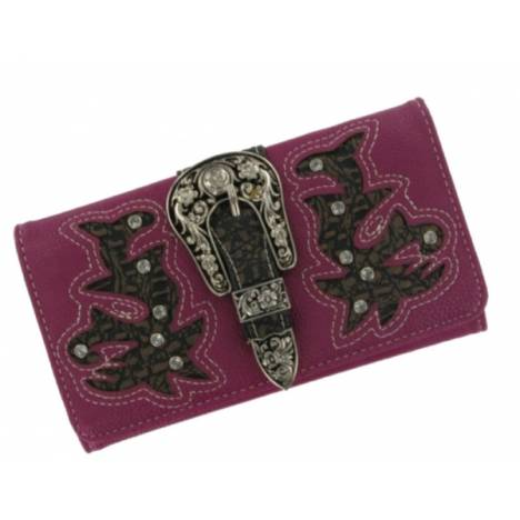 P & G Collection Boot Cut Buckle Billfold Wallet