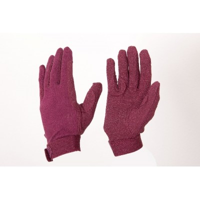 EOUS Child's Cotton Gloves - Burgundy - X-Small