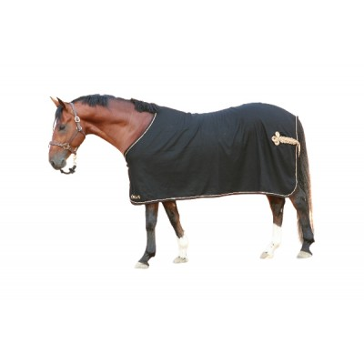 EOUS Wool Show Rug - Black/Gold - 72