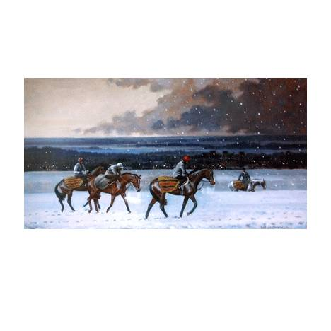 Winter on Warren Hill (Horse Racing) By: Neil Cawthorn