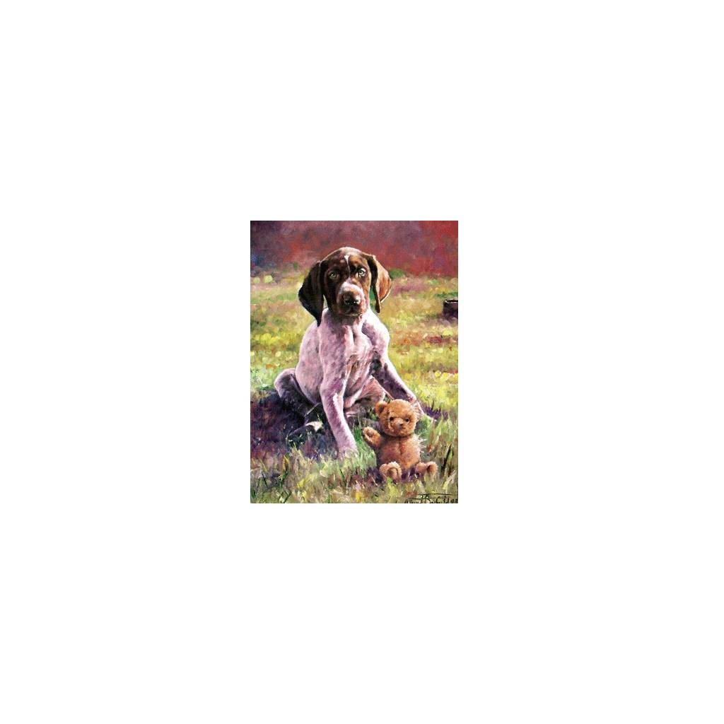 Puppy Love (German Shorthair Pointer) Blank Greeting Cards - 6 Pack