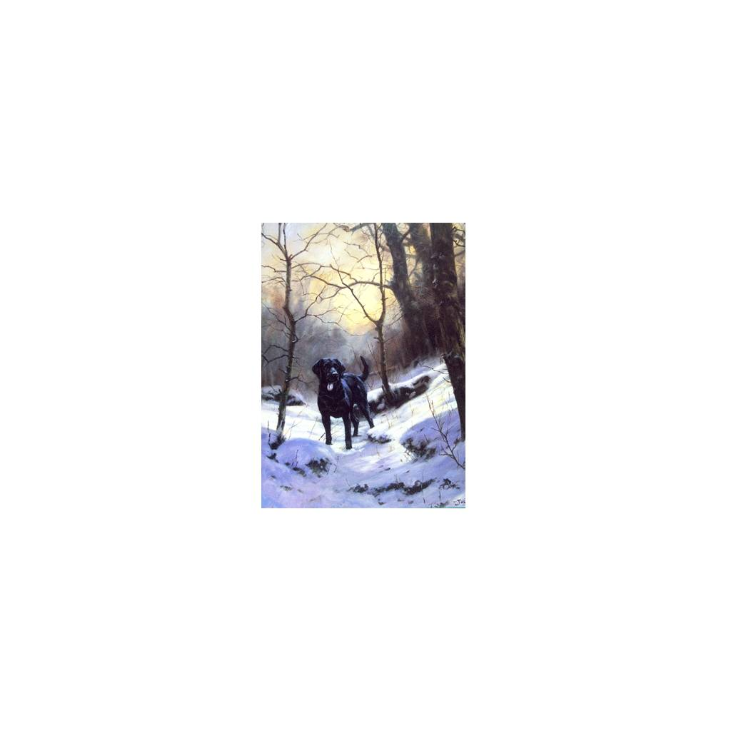 Warm Heart Cold Day (Labrador Retriever) Blank Greeting Cards - 6 Pack