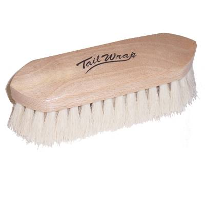 Partrade Wooden Goat Hair Finishing Brush for Horse Grooming Large