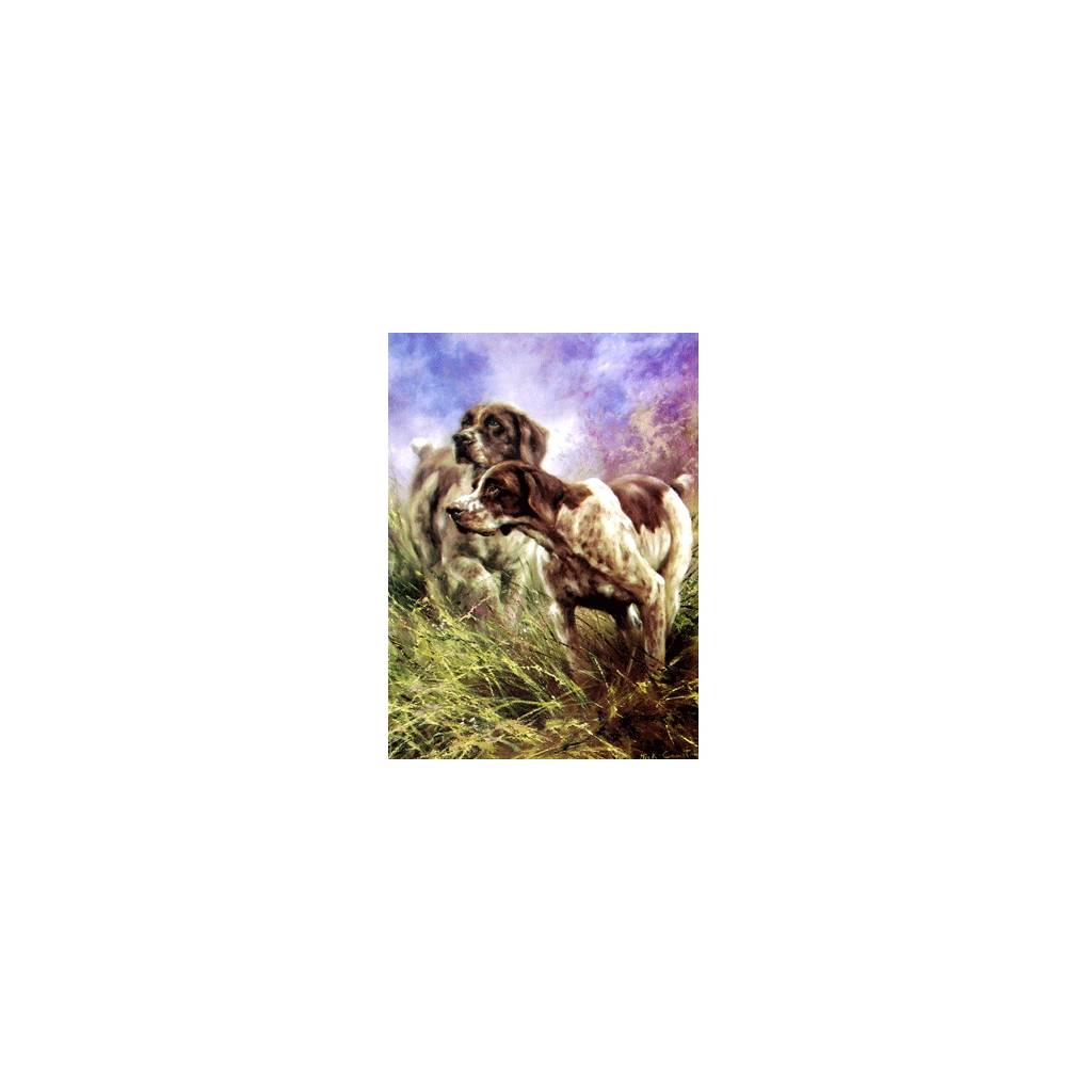 On Point (German Shorthair Pointer) Blank Greeting Cards - 6 Pack
