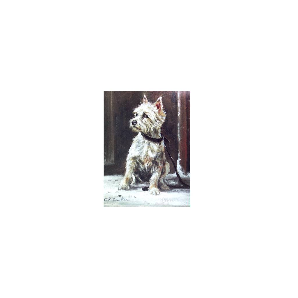 The Westie (West Highland Terrier) Blank Greeting Cards - 6 Pack