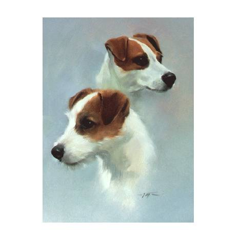 Parson Jack Russell Blank Greeting Cards - 6 Pack