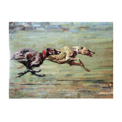 Power and Speed (Greyhound) Blank Greeting Cards - 6 Pack