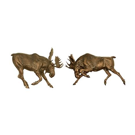 Moose Wall Sculptures Set of 2