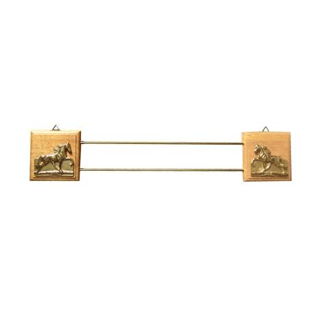 Wooden & Brass Ribbon Rack
