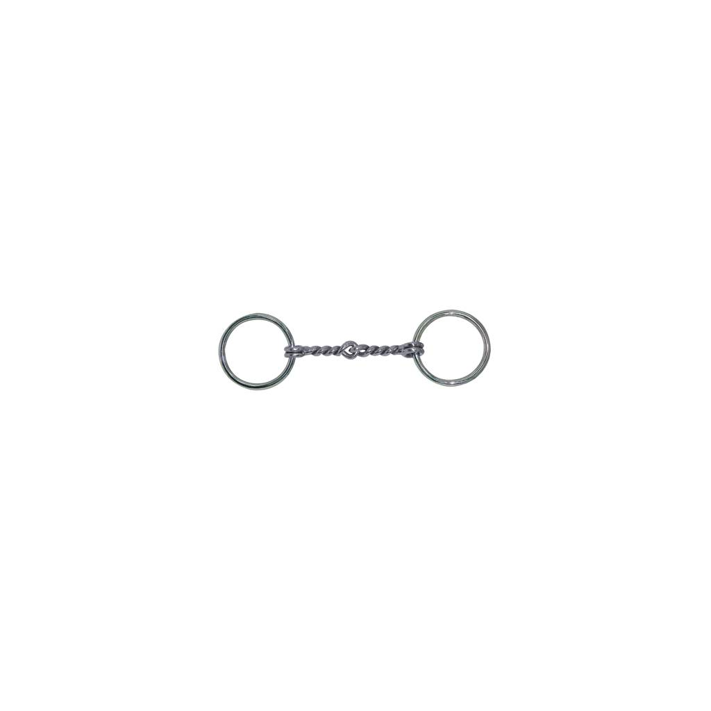 Miniature Loose Ring Malleable Iron Twisted Wire Mouth Bit