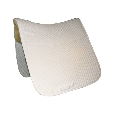 Quilted Dressage Pad with Sheepskin