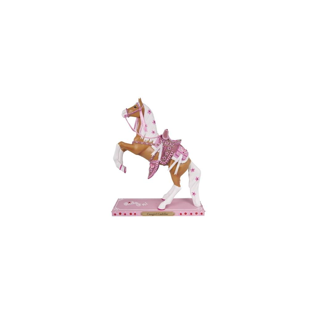 The Trail Of Painted Ponies - Cowgirl Cadillac Figurine