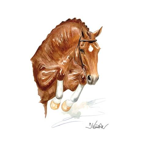 Jan Kunster Horse Prints - Salsa (Show Jumper)