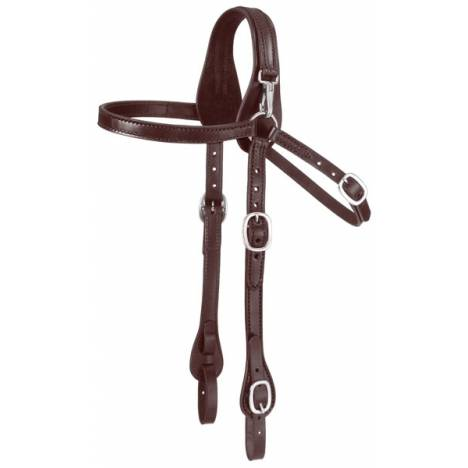 Tough-1 Leather Mule Headstall with Snap Crown