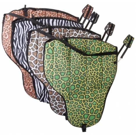 Tough-1 Deluxe Print Western Saddle Carrier - Tooled Leather Print