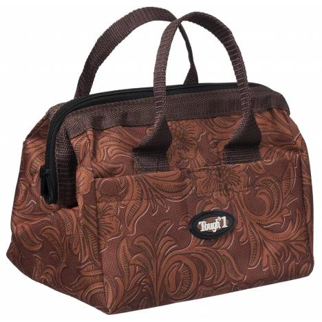 Tough-1 Groomer Accessory Bag - Tooled Leather Print