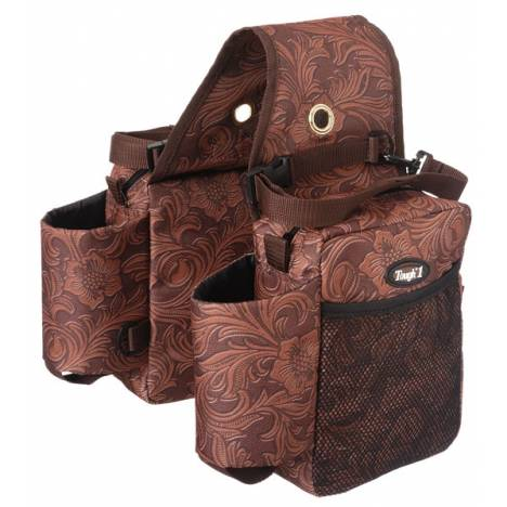 Tough-1 Saddle Bag/Bottle Holder/Gear Carrier - Tooled Leather Print