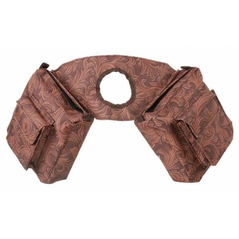 Tough-1 Horn Bag - Tooled Leather Print