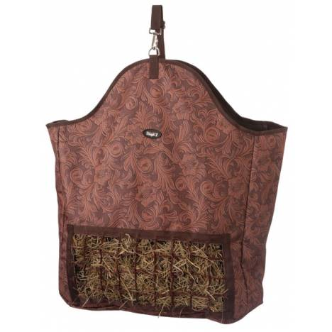 Tough-1 Slow Feed Hay Pouch - Tooled Leather Print
