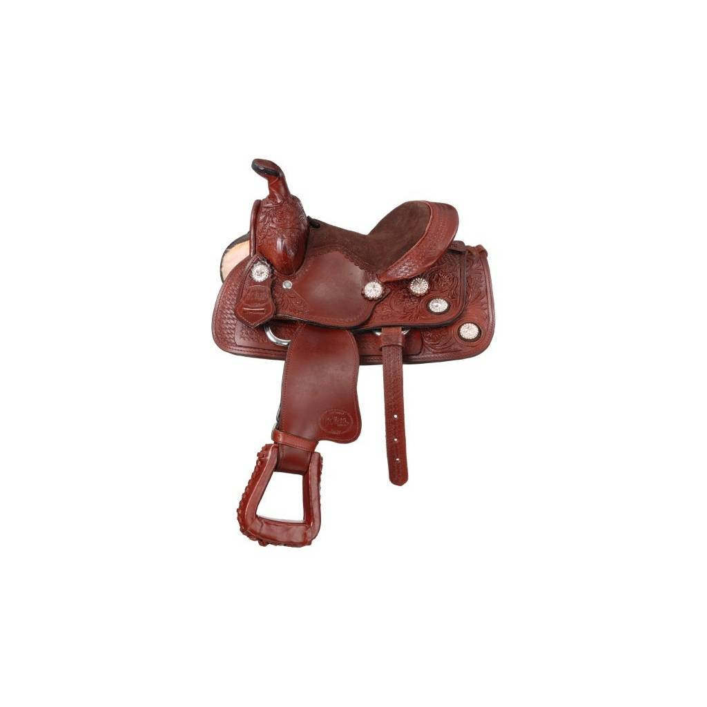 """King Series 8"""" Miniature West Trail Conchos Saddle Package"""