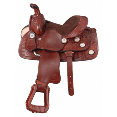 King Series 8'' Miniature West Trail Conchos Saddle Package
