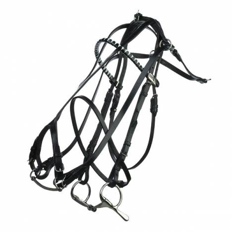 HorZe Double Check French Bridle