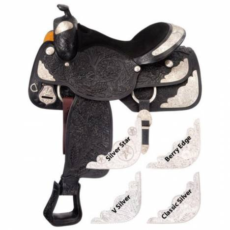 Silver Royal Grand Majestic Youth Show Saddle Package - V Silver