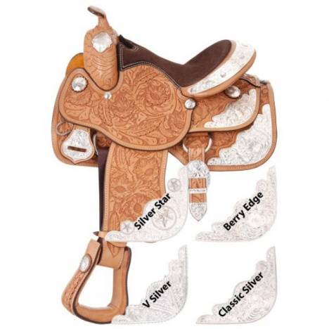 Silver Royal Grand Majestic Youth Show Saddle Package - Berry Edge Silver