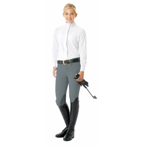 Ovation Teen Celebrity EuroWeave DX Euro Seat Front Zip Knee Patch Breech