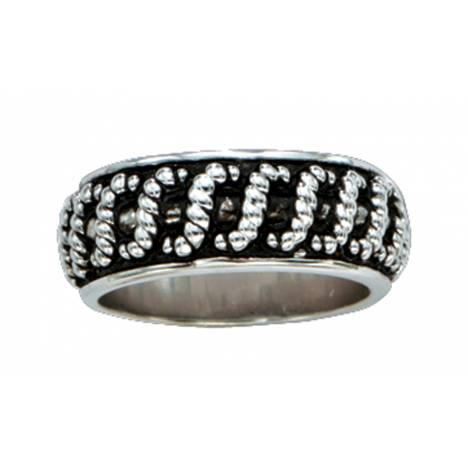 Montana Silversmiths Silver Rope Wrapped Band Ring
