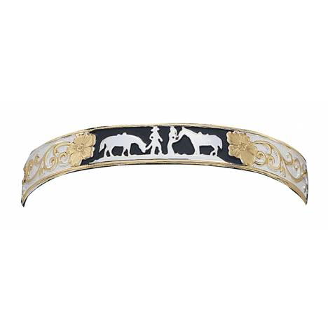 Montana Silversmiths Between Friends Bracelet with Black Accents