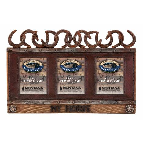 Montana Silversmiths Triple Framed Horseshoe Photo Frame