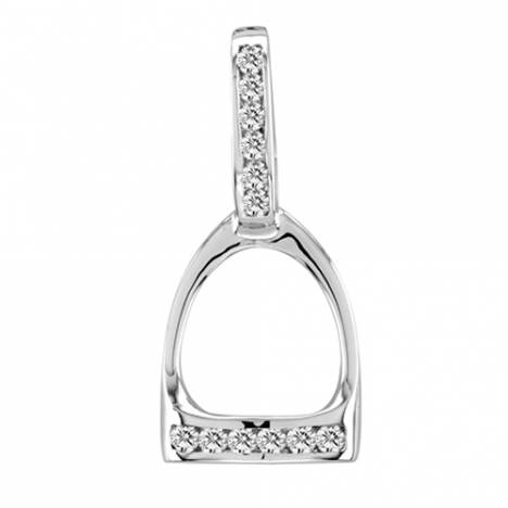 Kelly Herd .925 Sterling Silver English Stirrup Necklace