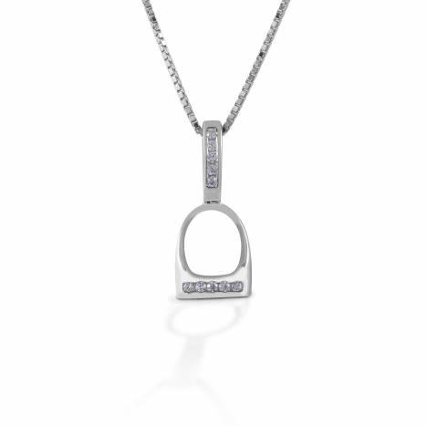 Kelly Herd Small English Stirrup Necklace - Sterling Silver