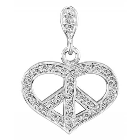 Kelly Herd .925 Sterling Silver Peace Pendant Large