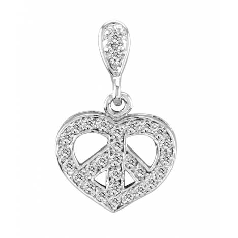 Kelly Herd .925 Sterling Silver Peace Pendant Small