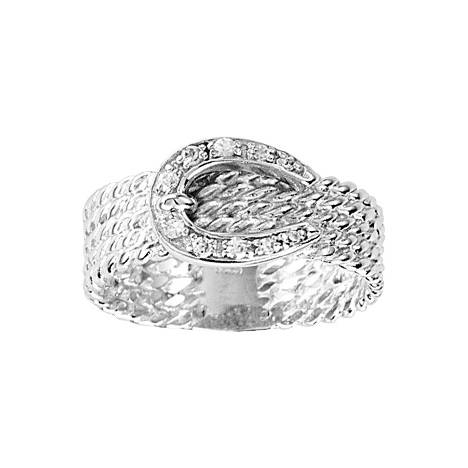 Kelly Herd .925 Sterling Silver Rope Buckle Ring