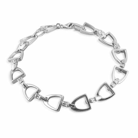 Kelly Herd Small English Stirrup Bracelet - Sterling Silver