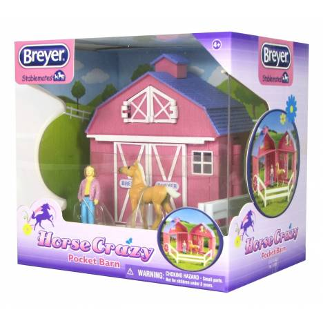 Breyer Stablemates Horse Crazy Pocket Barn
