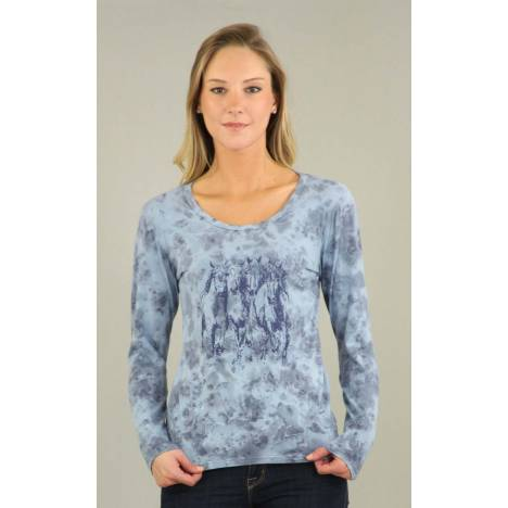 Outback Trading Running Horses Tee