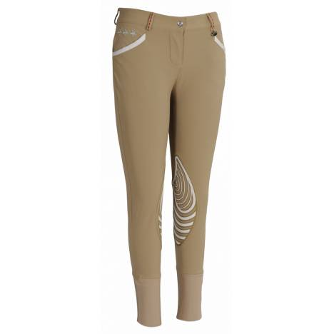 Equine Couture Ladies Stars & Stripes Knee Patch Breech