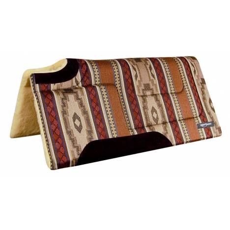 REINSMAN Square Cutback/Built-Up Fleece Herculon Pad - Running Bull Onyx Print