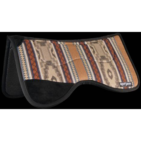 REINSMAN Fleece Tunnel Contour Herculon Pad With Leg Cutout - Corral Beige Print