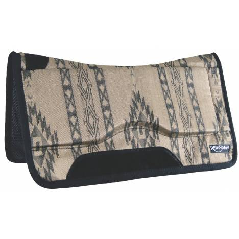 REINSMAN Contour Swayback Herculon Pad - Tacky Too - Lodge Trail Beige Print