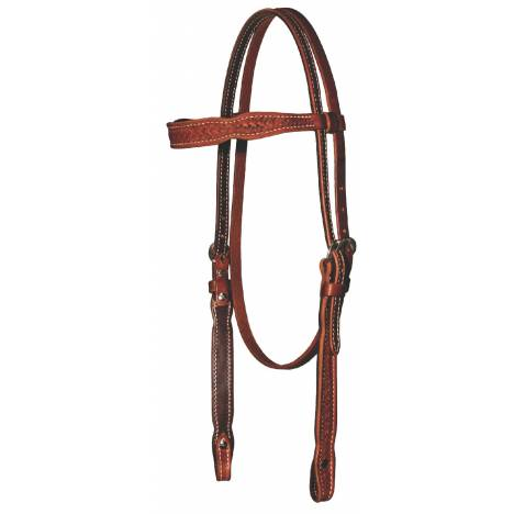 REINSMAN 5/8'' Tooled Miniature Basket Browband Headstall