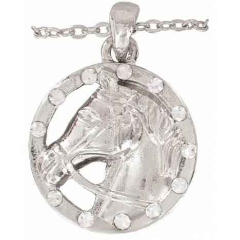 Crystal Horse Head Necklace