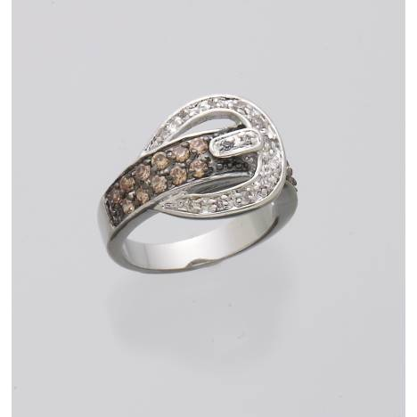 Sparkly Western Belt Buckle Ring