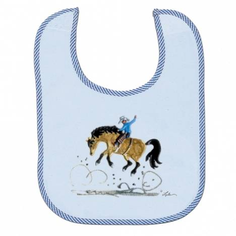 Lila Blakeslee Horse Design Infant Bib