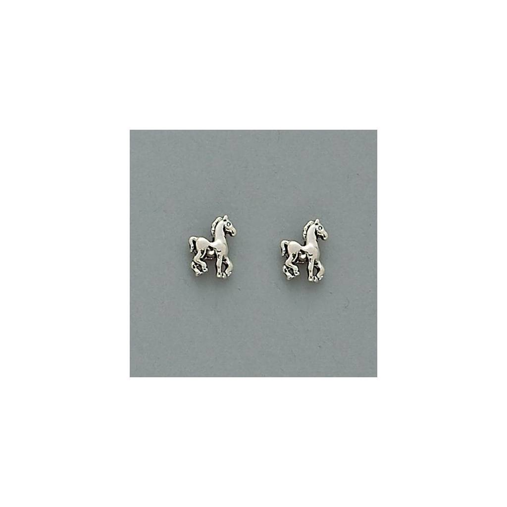 Tiny Prancing Foal Earrings