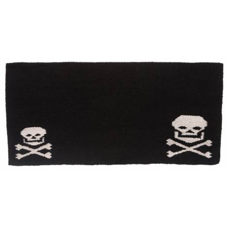 Tough-1 Wool Saddle Blanket with Skulls